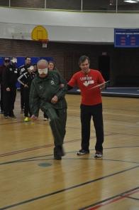 Dick Howard takes his blind soccer shot.JPG